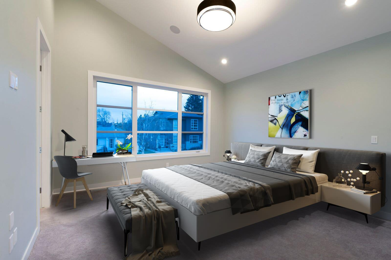 After-Virtual Staging For A Cozy Bedroom