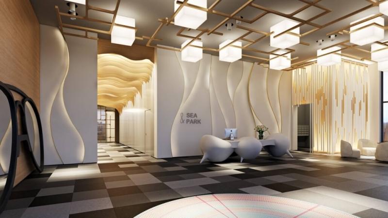 Virtually Staged Spacious Lobby