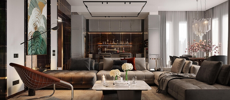 Professional Virtual Staging for Living Room