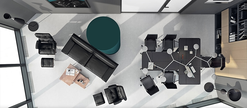 3D Virtual Staging Office Design