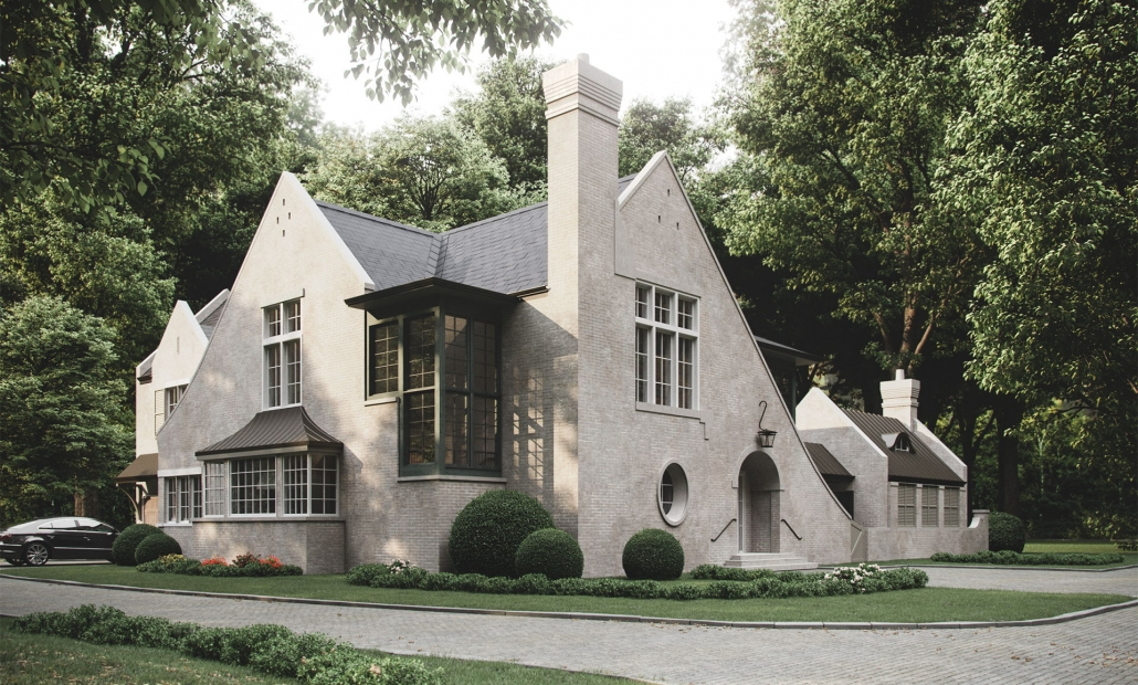 Exterior Virtual Staging for a High-End Mansion
