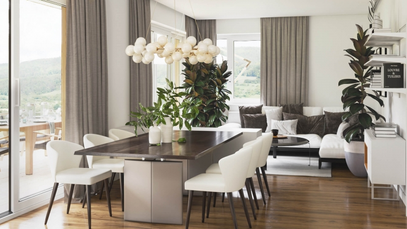 Virtual Staging for a Light Dining Room