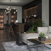 A Virtually Staged Modern Living Room