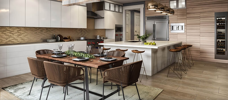 Virtual Staging for a Stylish Kitchen Interior