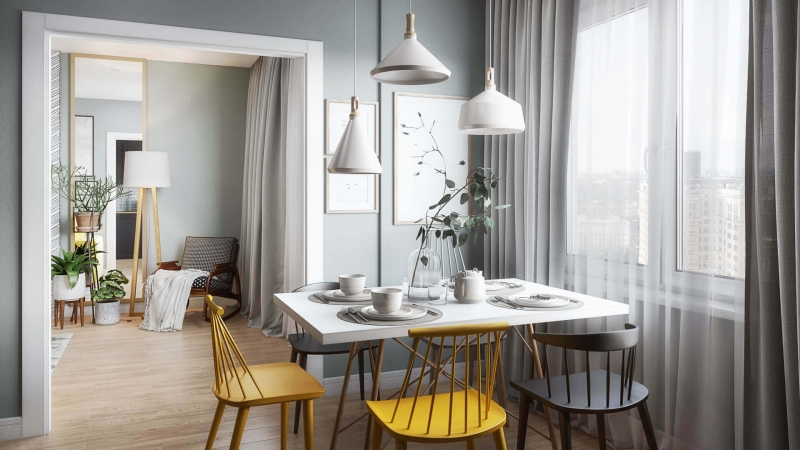 Virtual Staging for a Modern Dining Room