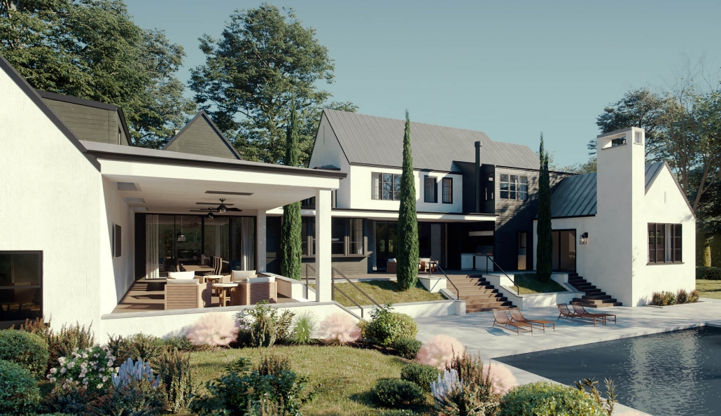 Exterior and Landscape Visualization for a Mansion