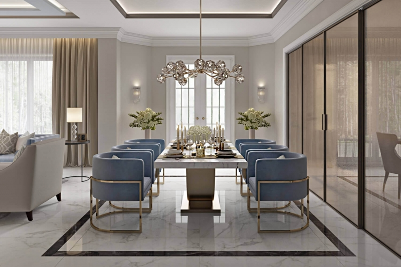 A Virtually Staged Dining Zone