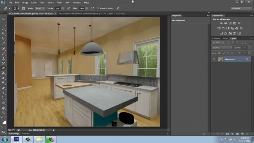 Adope Photoshop for Real Estate Virtual Staging