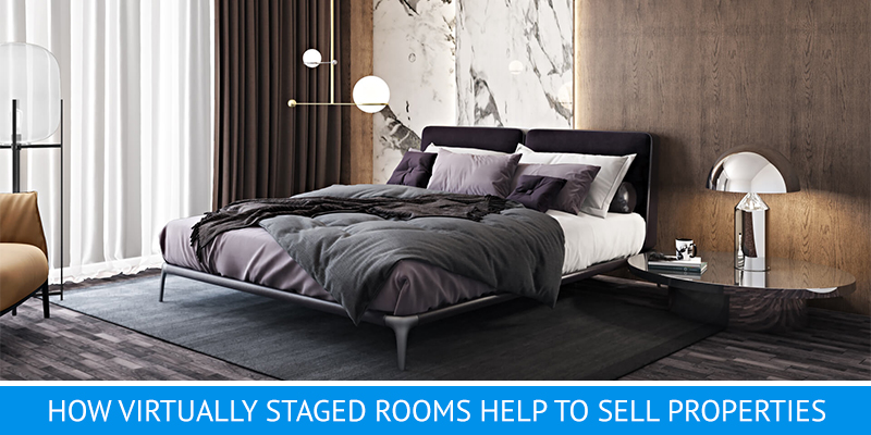 Digital Staging for a Stylish Bedroom
