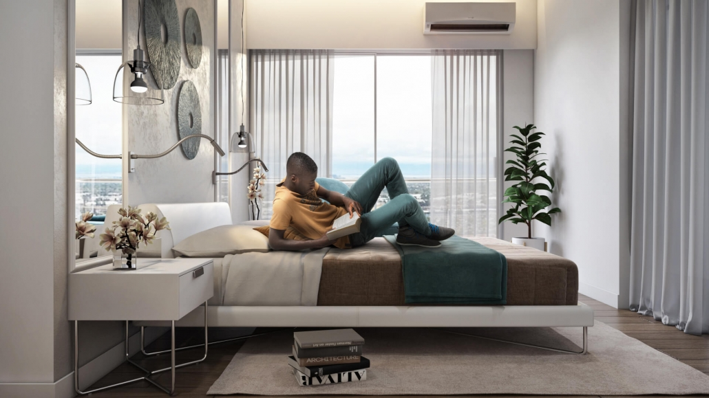 Virtual Staging for a Comfy Bedroom