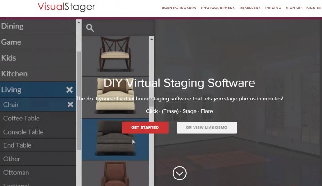 VirtualStager for Online Digital Staging