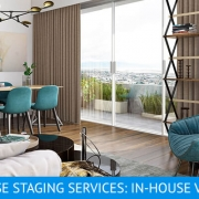 Virtual Home Staging for a Living Space