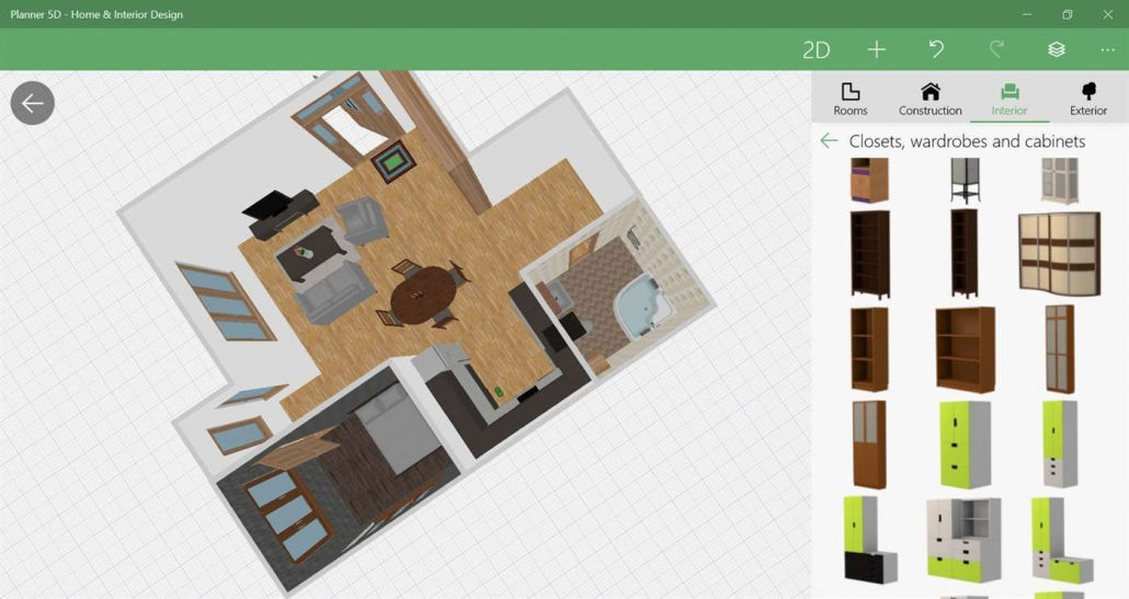 Planner 5D for Virtual Furniture Staging