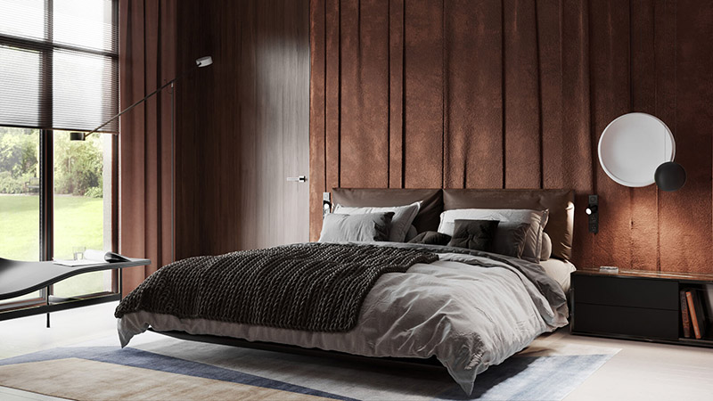 A Virtual Interior of a Sophisticated Bedroom