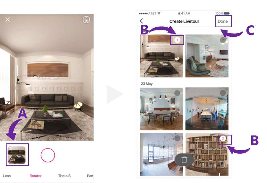 LiveTour for 360 Virtual Staging
