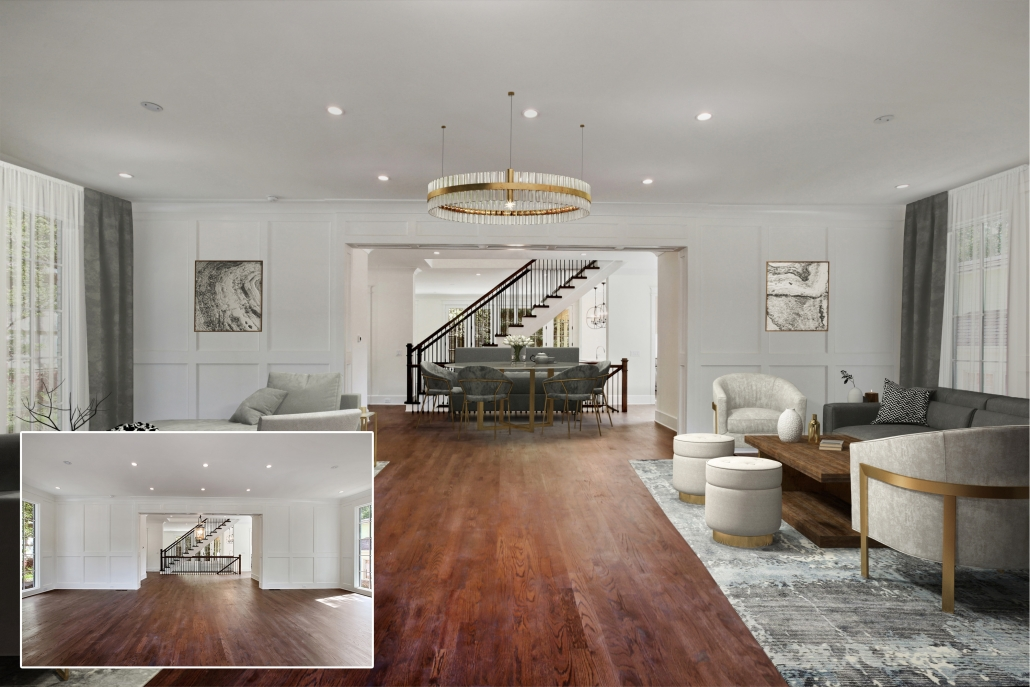 Luxurious Virtual Staging for a Big House