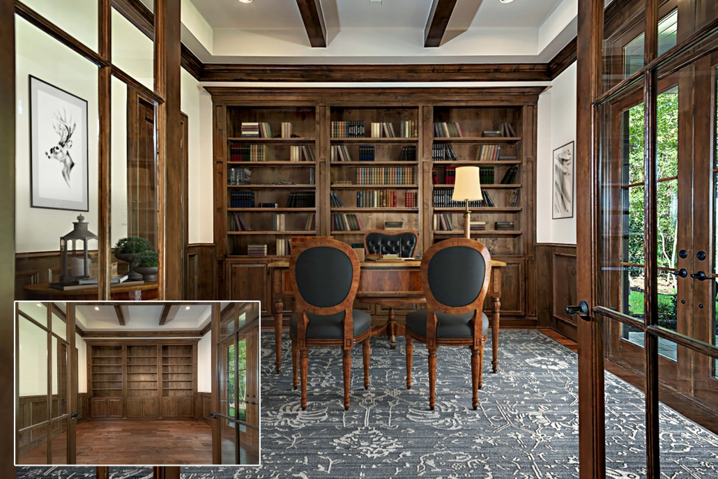 Virtually Staged Home Office