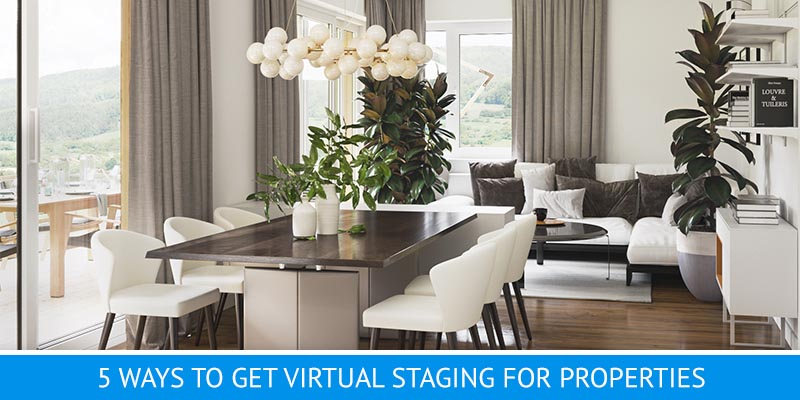 A Virtually Staged Photo of a Dining Zone