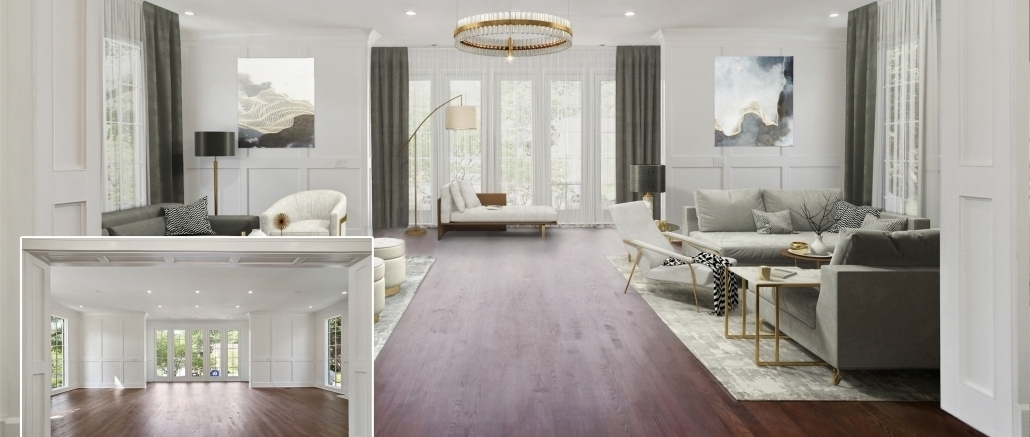 Before and after virtual staging: ways to use in SMM