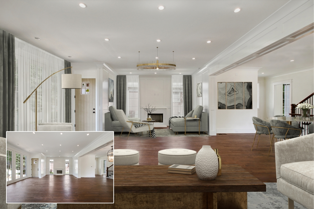 Before and after virtual staging services: Educational purpose