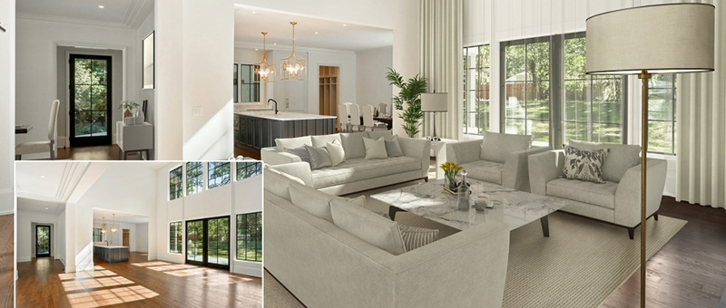 A Virtually Staged Living Room