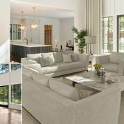 Virtually Staged Spacious Living Room