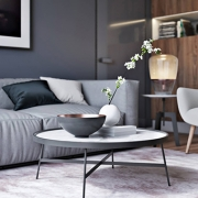 Virtual House Staging for a Living Room