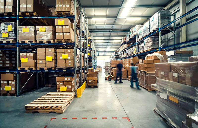 A Warehouse with Objects for Physical House Staging