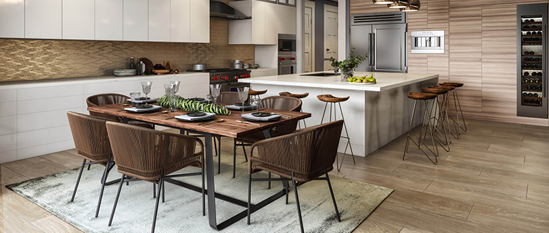 Virtual Staging for a Kitchen in a Modern Apartment