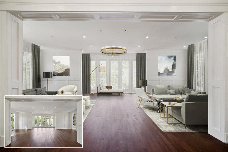 Virtual Staging a Spacious Modern Apartment
