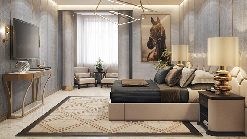 Virtual Staging for a Master Bedroom