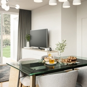 Transformation for a Traditional Living Room with a Dining Zone