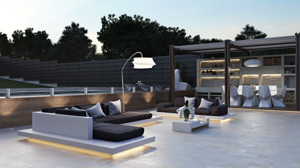 Digital furniture for property: Outdoor design