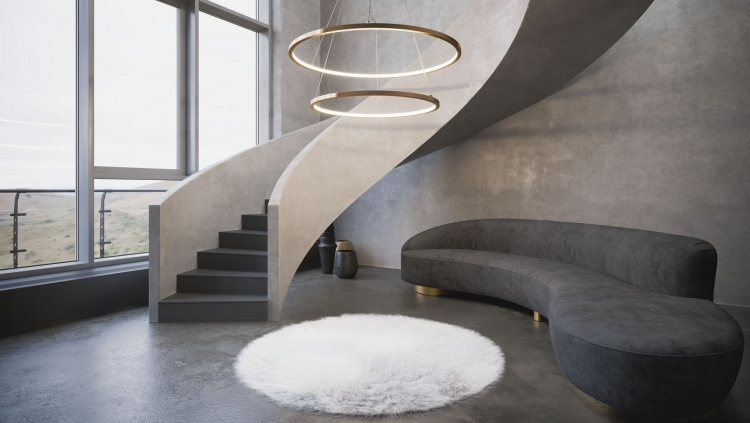 Curvy Shapes of Furniture and Decor Elements