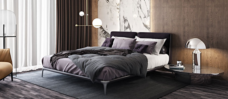 A Muted Color Scheme for Home Bedroom