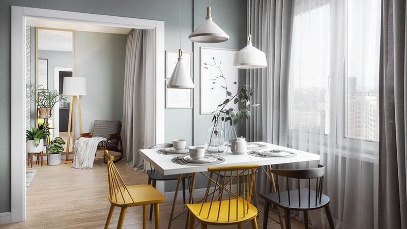 A Dining Zone Presentation in a Scandinavian Home
