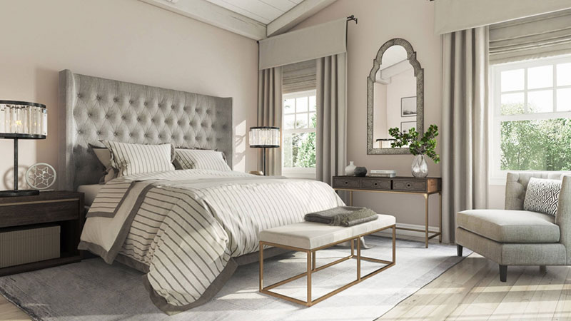An Elegant Bedroom in Neutral Tones