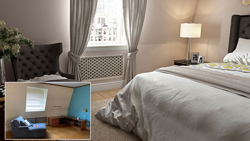 A Room Before and After the Transformation