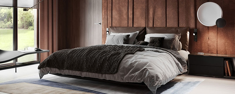 A Bedroom Staged Using Luxurious Materials