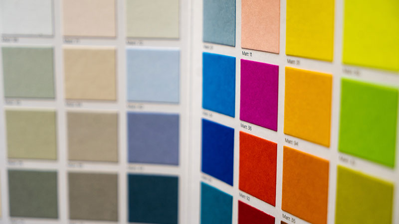 A Color Palette with Various Samples