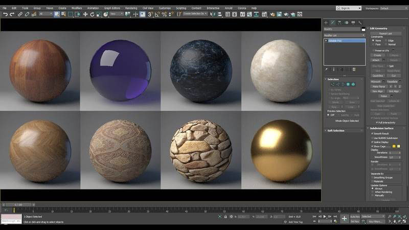 3D Materials and Textures for 3D Models of the Furniture