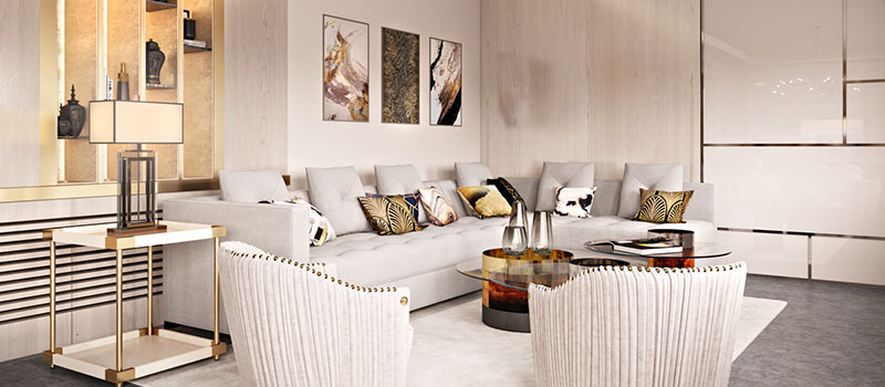Virtual Furniture Design for a Neutral Living Room