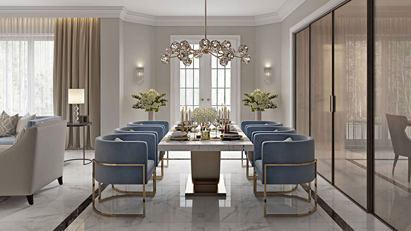 Virtually Staged and Photoshopped Dining Zone