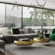 A Virtually Staged Living Zone with Green Accents