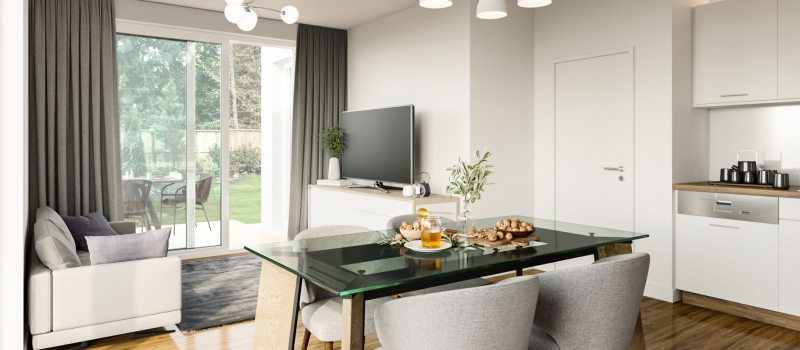 An Open-Plan Premise Benefits from Virtual Staging