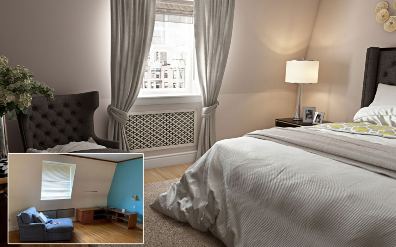 Before-After Pics Showing How a Room Can Benefit from Virtual Staging