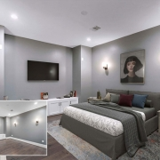 Before and After Images of Virtually Staged House in Minimalist Interior Design Style