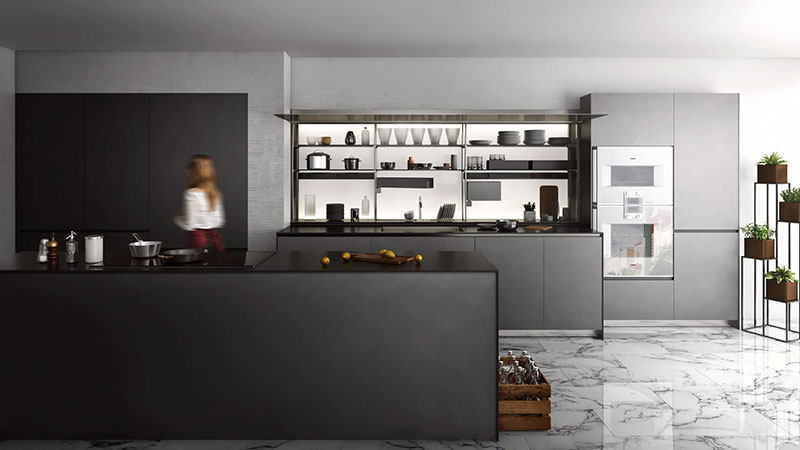 Using Dark Hues for Kitchen CG Staging