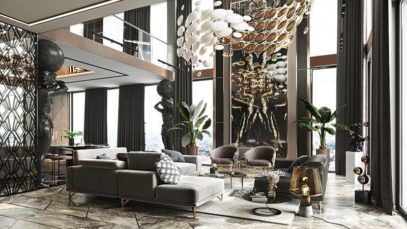 Luxury Furniture and Home Decor for Virtual Staging