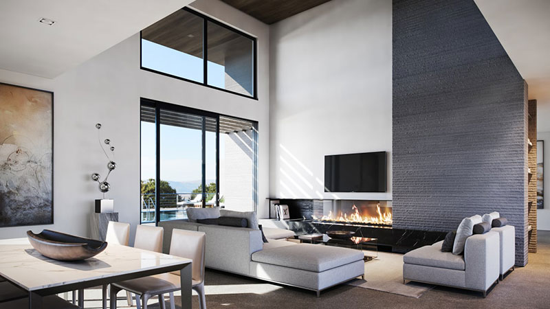 Luxury Living Room for Modern Home CG Staging